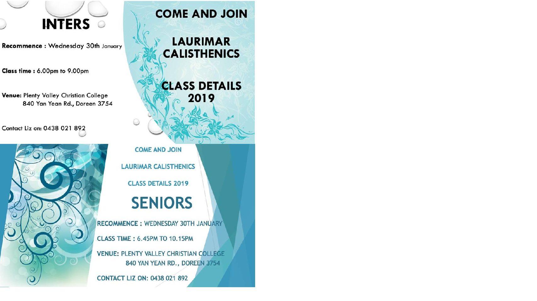 Intermediates and Seniors
